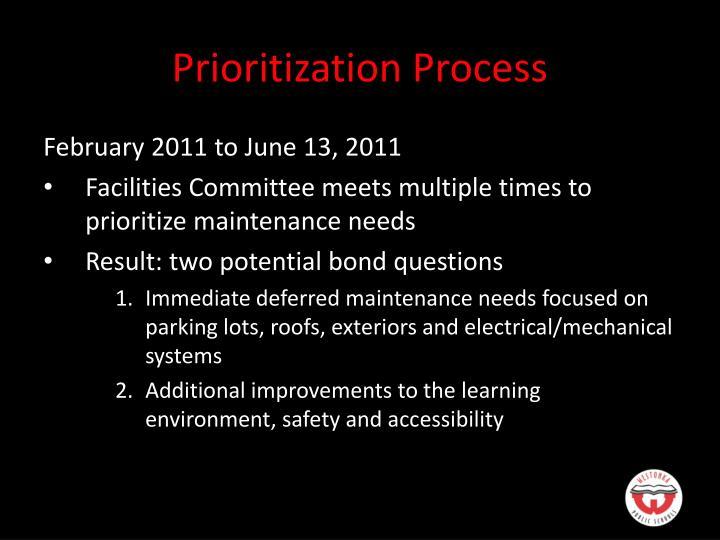 Prioritization Process
