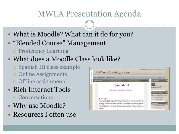 MWLA Presentation Agenda