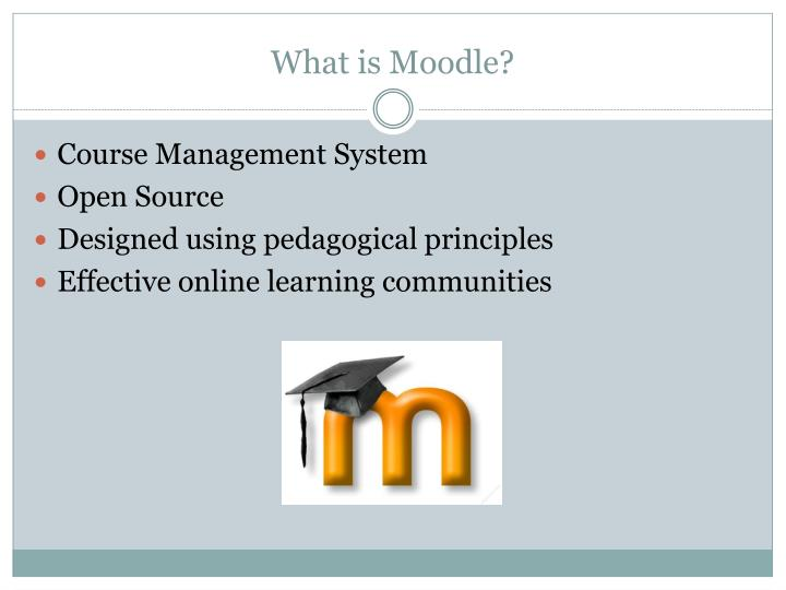 What is moodle