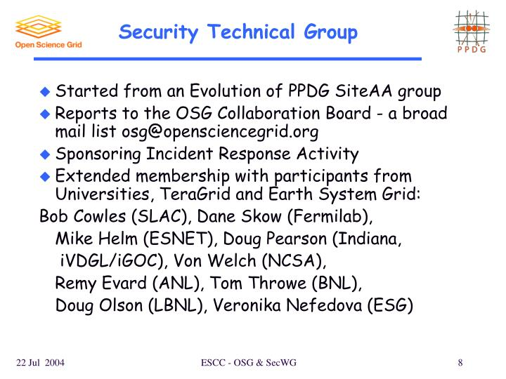 Security Technical Group