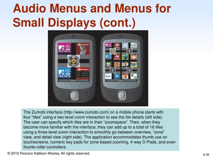 Audio Menus and Menus for
