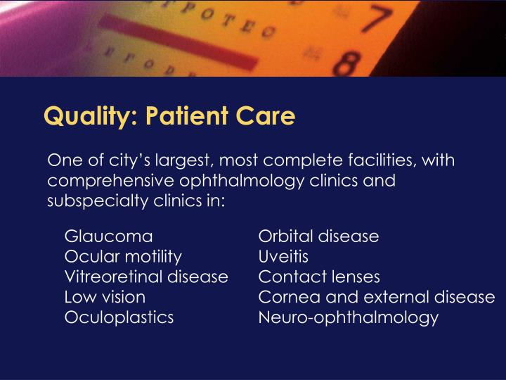 Quality: Patient Care