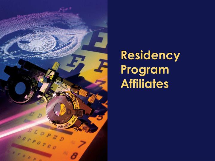 Residency Program Affiliates
