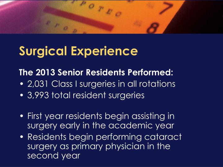 Surgical Experience