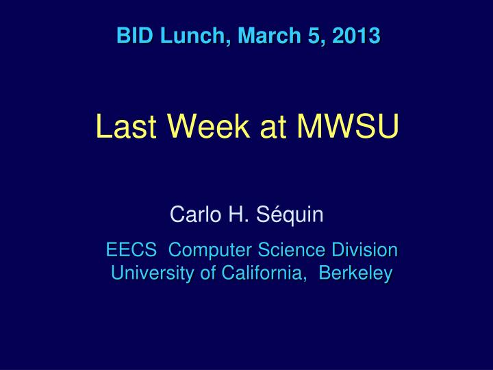BID Lunch, March 5, 2013