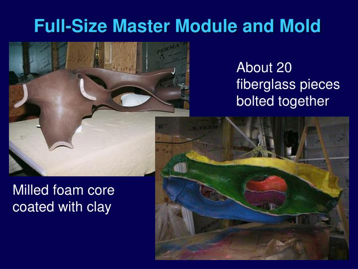 Full-Size Master Module and Mold