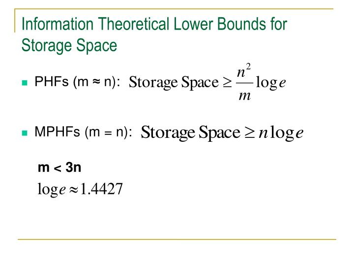 Information Theoretical Lower Bounds for