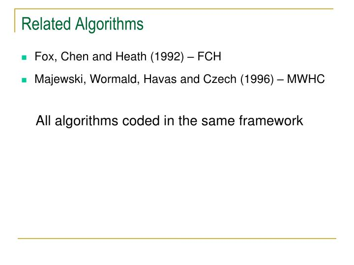 Related Algorithms