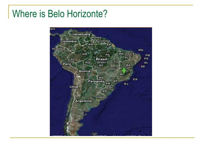 Where is Belo Horizonte?