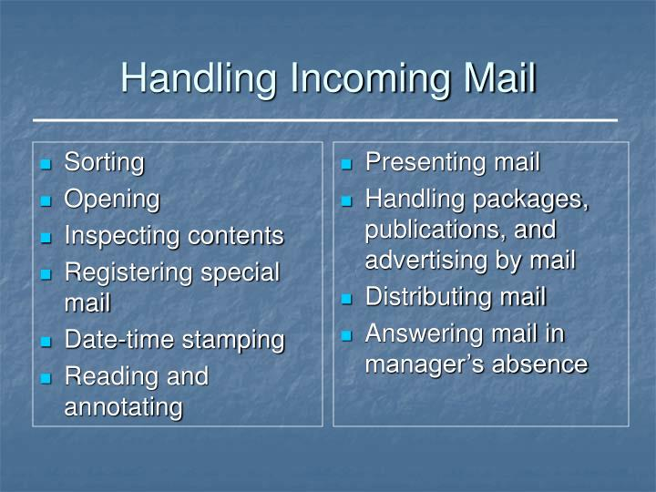 Handling incoming mail
