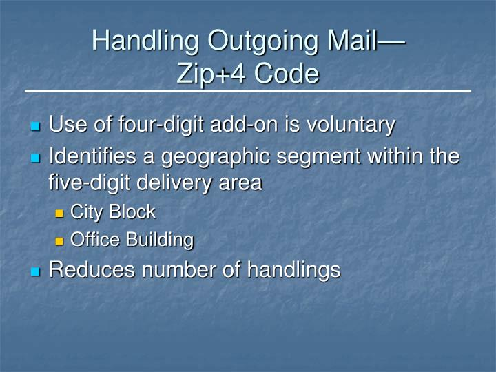 Handling Outgoing Mail—
