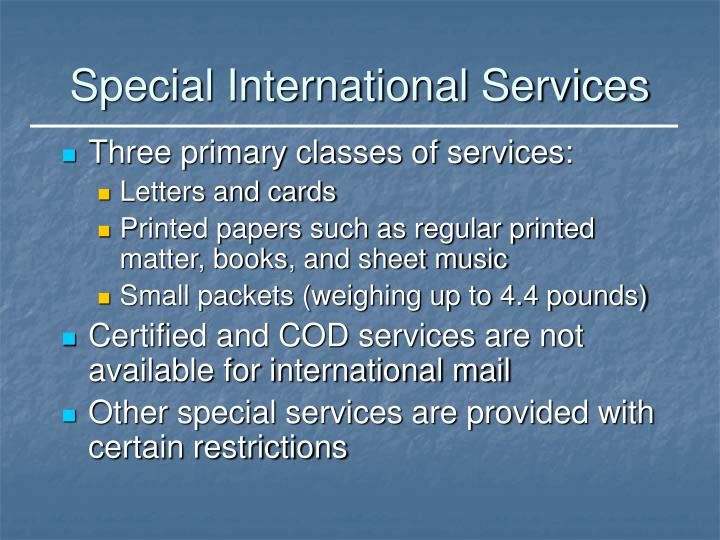 Special International Services