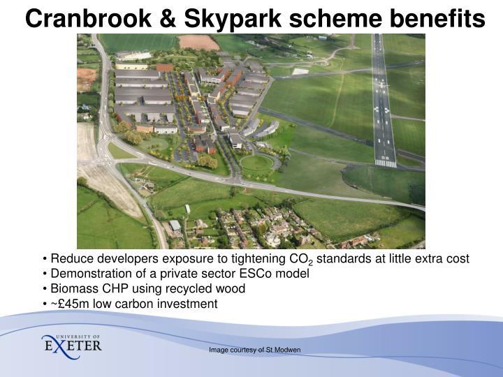 Cranbrook & Skypark scheme benefits