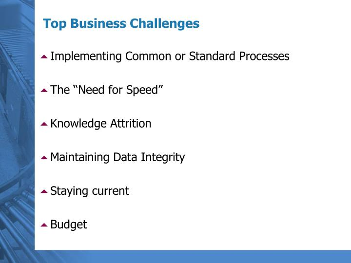 Top business challenges