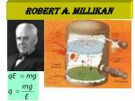 robert a millikan