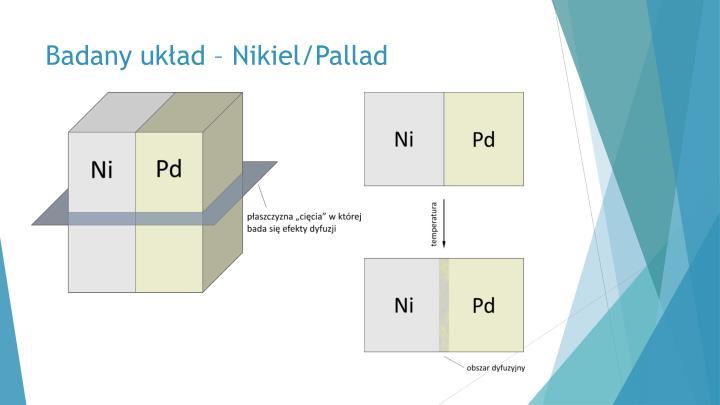 Badany układ – Nikiel/Pallad
