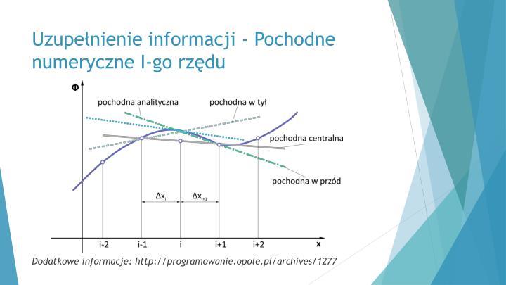 Uzupełnienie informacji