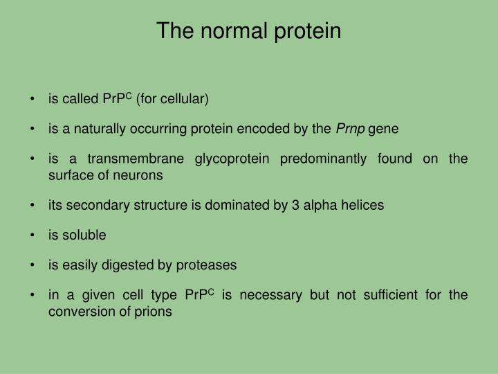 The normal protein