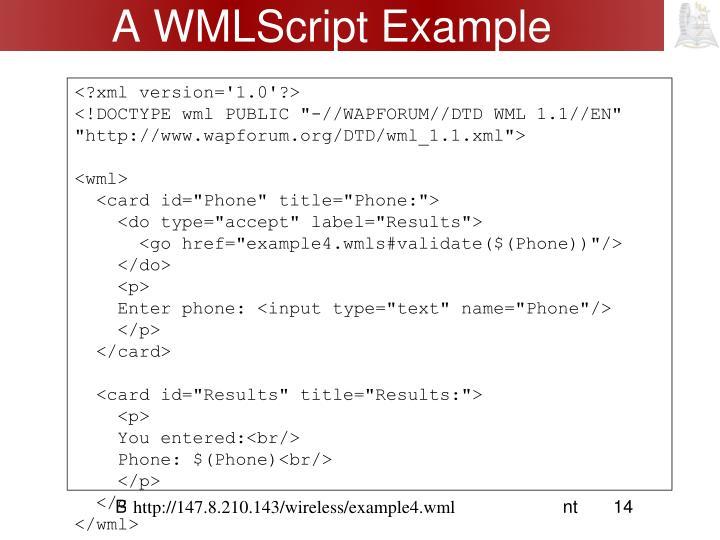 A WMLScript Example