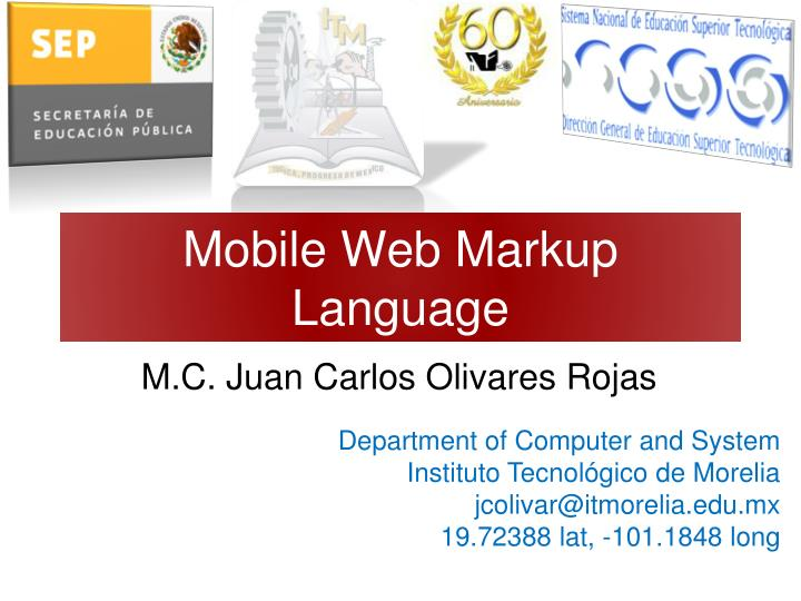 Mobile web markup language