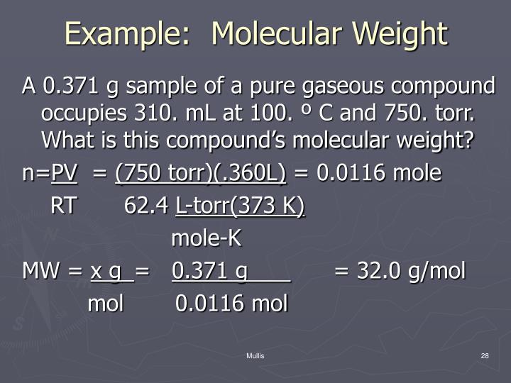 Example:  Molecular Weight