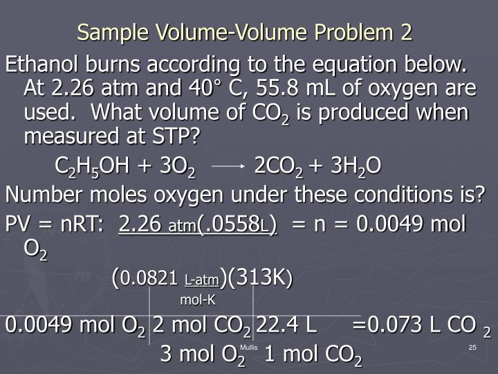 Sample Volume-Volume Problem 2