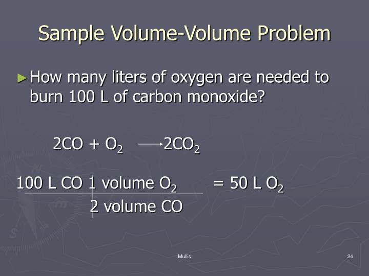 Sample Volume-Volume Problem