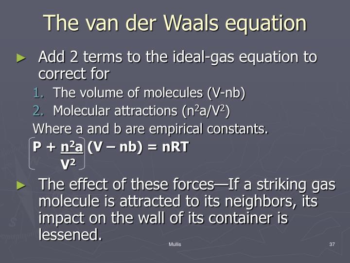 The van der Waals equation
