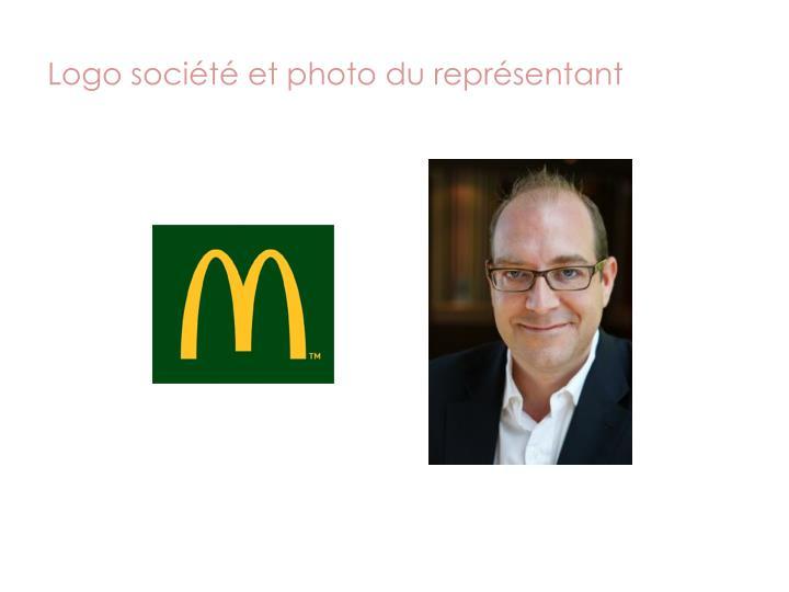 Logo société et photo du représentant