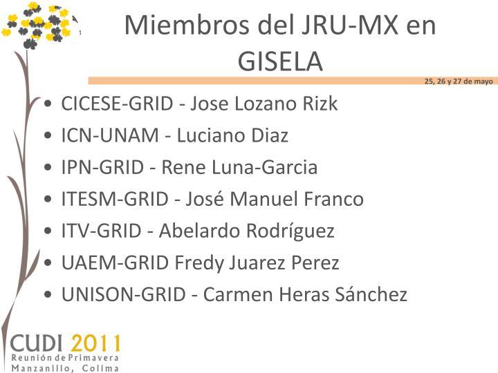 Miembros del JRU-MX en GISELA