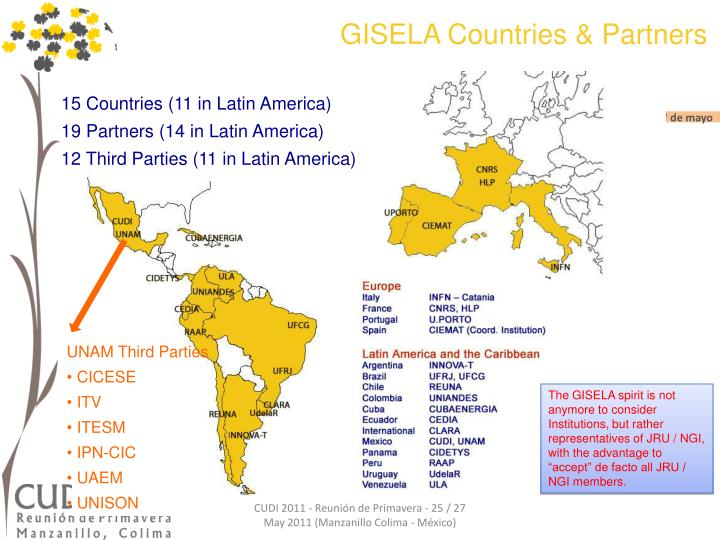 GISELA Countries & Partners