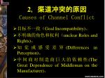 2 causes of channel conflict