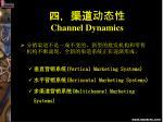 channel dynamics