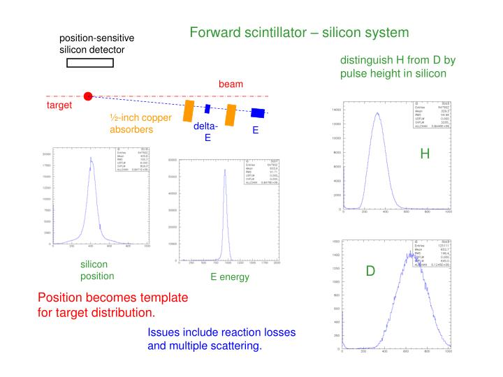 Forward scintillator – silicon system