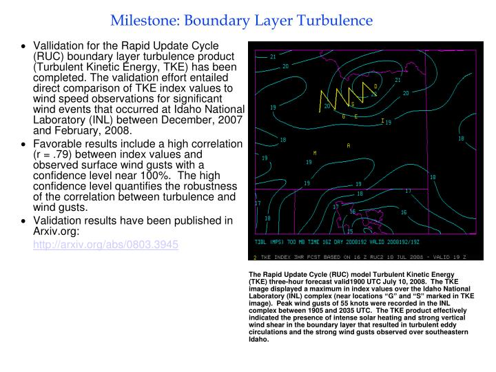 Milestone: Boundary Layer Turbulence