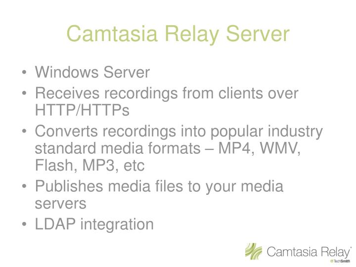 Camtasia Relay Server