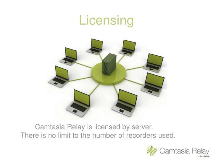 Camtasia Relay is licensed by server.