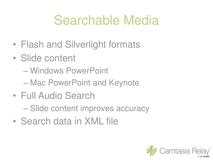 Searchable Media