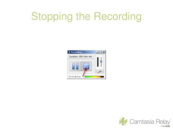 Stopping the Recording