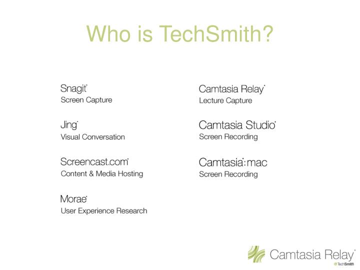 Who is techsmith