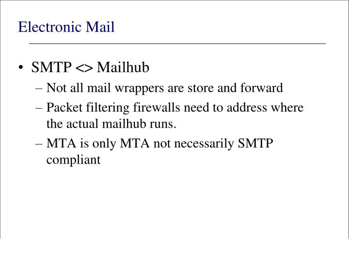 Electronic Mail