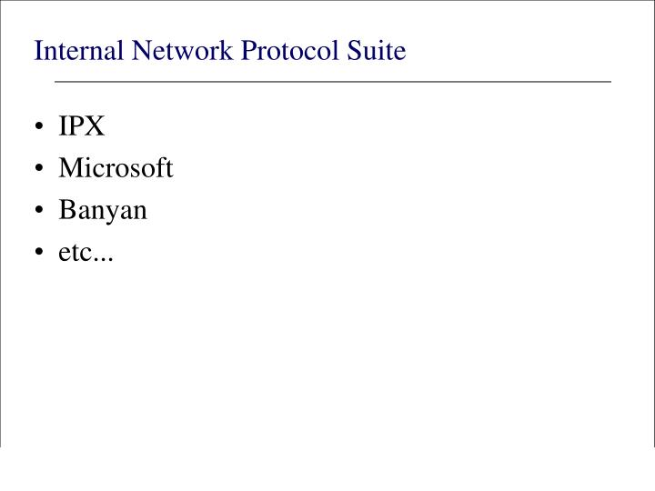 Internal Network Protocol Suite