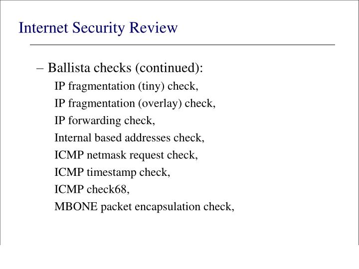 Internet Security Review