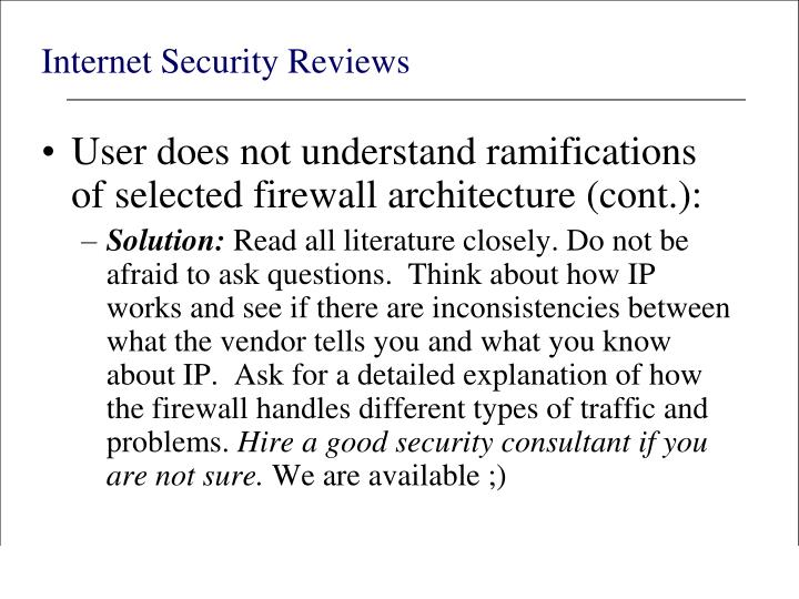 Internet Security Reviews