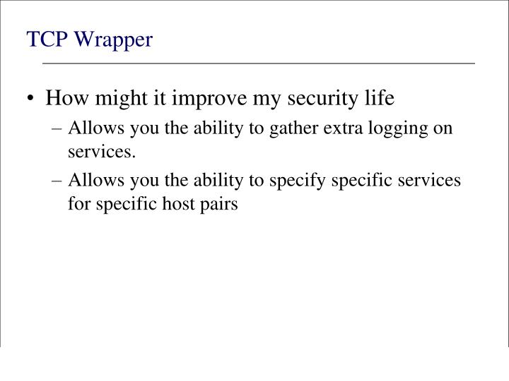 TCP Wrapper
