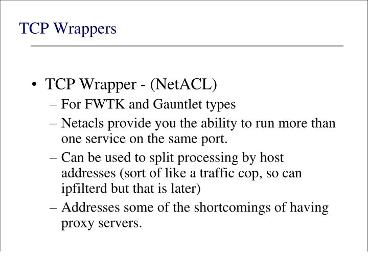 TCP Wrappers