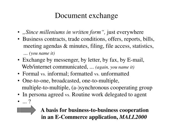 Document exchange