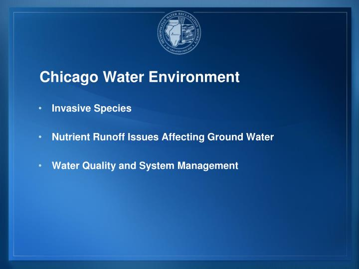 Chicago Water Environment