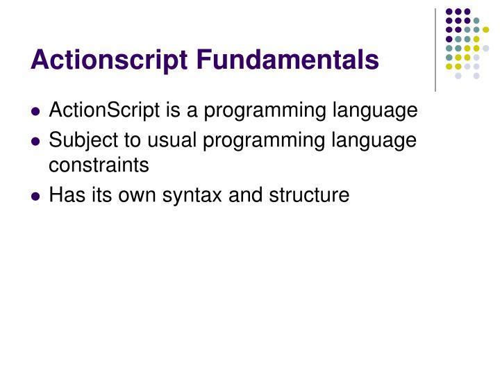 Actionscript Fundamentals