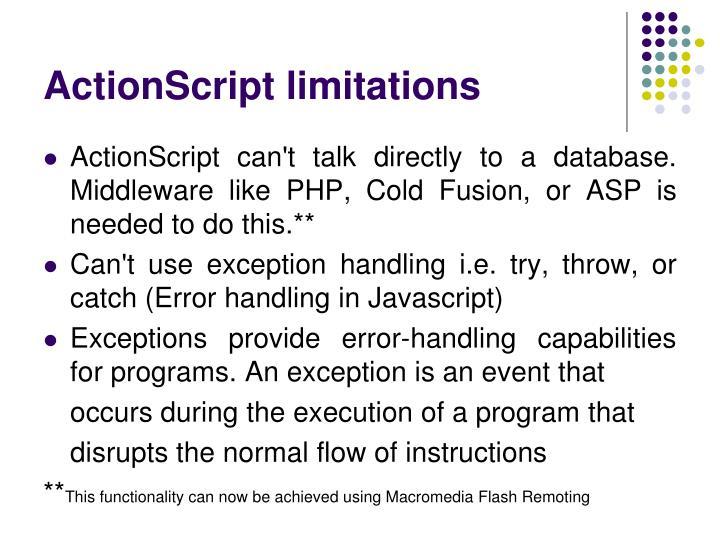 ActionScript limitations